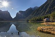 Italy, Alto Adige, Toblacher See in autumn - MKFF000147
