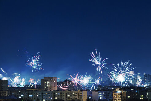 Bulgaria, Sofia, New Years Eve, Fireworks - BZF000031