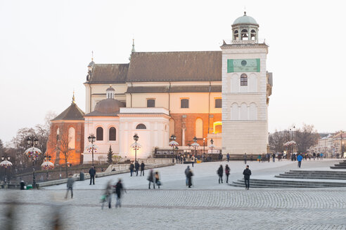 Poland, Warsaw, Old town, Church of Saint Anne with clock tower - MSF004458