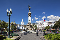 Ecuador, Quito, Independence Square with the Liberty Statue - FOF007631
