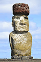 Chile, Easter Island, moai at Ahu Tongariki - GEMF000023