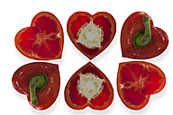 Heart-shaped red bell peppers - AMF003719