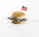 Burger with American flag and harddrives - KSW001415