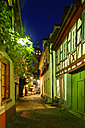 Germany, Neustadt an der Weinstrasse, Metzgergasse at night - LB001051