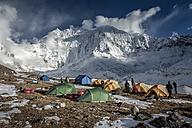 Nepal, Khumbu, Everest region, Island peak base camp with Kali Himal - ALR000050