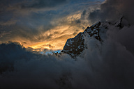 Nepal, Khumbu, Everest region, Dingboche, Taboche at sunset - ALRF000064