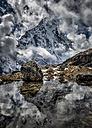 Nepal, Khumbu, Everest region, reflection of Arakam Tse - ALRF000029