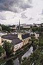 Luxembourg, Luxembourg City, view to St. Johannis and Neumuenster Abbey from Corniche - CHPF000040