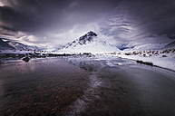 Great Britain, Scotland, Highland, Buachaille Etive Mor, dramatic sky - SMAF000299