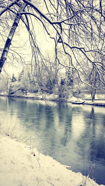 Germany, Landshut, winter landscape - SARF001331