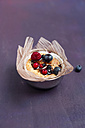 Cup cake with berries and blueberry sirup - MYF000887