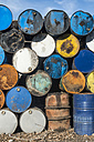 Bulgaria, pile of oil drums - DEGF000285