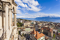 Switzerland, Lausanne, cityscape from cathedral Notre-Dame - WD002888