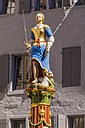 Switzerland, Lausanne, Lady Justice statue - WDF002900