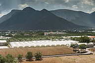 Greece, Peloponnese, greenhouses at landscape - DEG000204