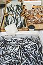 Greece, Athens, Fresh fish in market at Piraeus - DEGF000178