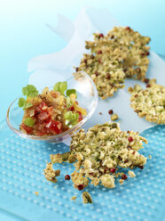 Cheese nuts fritters with tomato celery relish - SRS000560