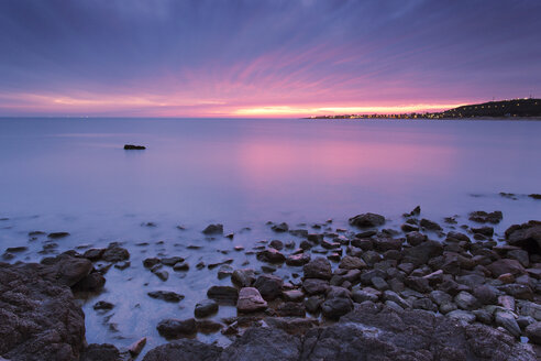 Uruguay, Maldonado, Piriapolis, Punta Negra at twilight - FPF000030