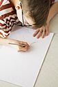 Boy drawing - LVF002886