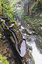 Ecuador, Tungurahua, Banos de Agua Santa, waterfall Pailon del Diablo - FOF007687