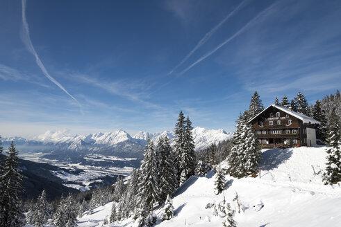 Austria, Tyrol, Schwaz, view from Loassattel to Inn Valley - MKFF000168