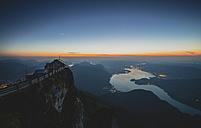 Austria, Salzkammergut, Schafberg, Mountain hut Himmelspforte in the evening - STCF000092