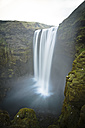 Iceland, Skoga, long exposure of the Skogafoss waterfall - STCF000094