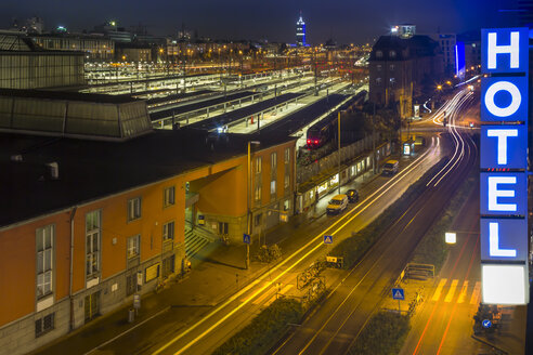 Germany, Munich, central station by night - NK000229