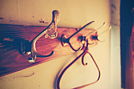 Old coat rack with cobweb - HOH001267