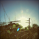 Germany, Bad Oeynhausen, decommissioned military helicopter - HOH001274