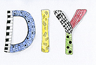 Word DIY drawed in Zentangle - CMF000227