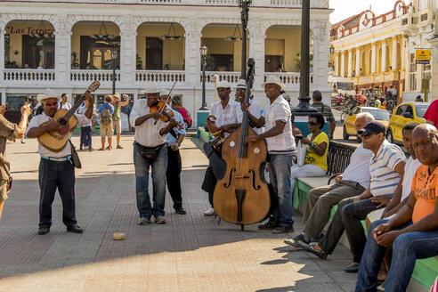 Cuba, Santiago de Cuba, music group playing - EJW000679