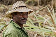 Cuba, portrait of smiling farmer - EJW000682