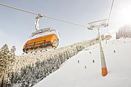 Austria, Salzburg State, Region Hochkoenig in winter, Ski Amade, ski lift - DISF001409