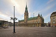 Germany, Hamburg, City Hall in the morning - RJF000400