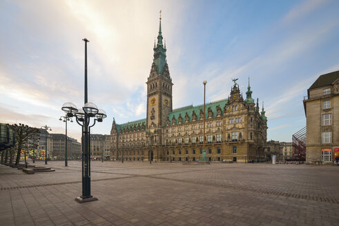 Germany, Hamburg, City Hall in the morning - RJF000400