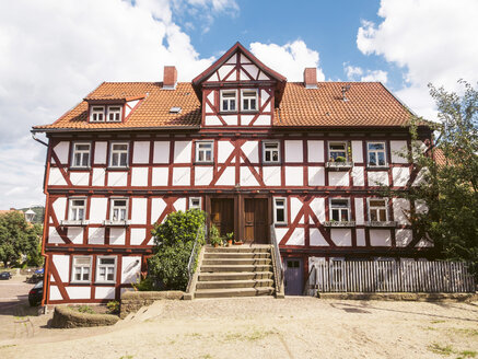Germany, Hesse, Schlitz, half-timbered house - GSF000972