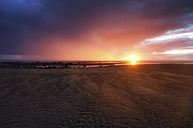 UK, Scotland, East Lothian, sunset at Gosford Bay - SMAF000313