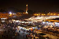 Morocco, Marrakesh, Djemaa el Fna at night - STDF000127