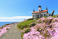 USA, California, Pacific Coast, Crescent City, Battery Point Light - FOF007798