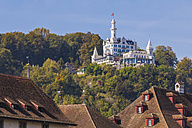 Switzerland, Luzern, view to castle hotel Chateau Guetsch on the hill - WD002980