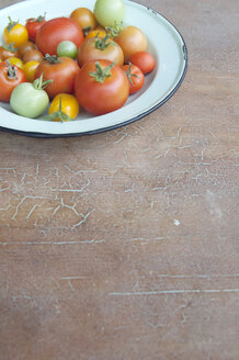 Enamel plate of different tomatoes - GIS000067