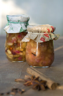 Two preserving jars of pear chutney - GIS000065