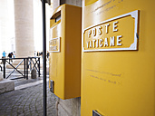 Italy, Rome, Yellow Vatican mail boxes - LA001348