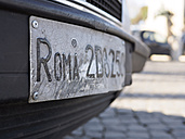 Italy, Rome, Old licence plates of Rome - LA001353