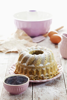 Poppy seed cake and ingredients - CSF024896