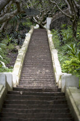 Laos, Luang Prabang, Steps leading to the Mount Phou Si - NNF000222