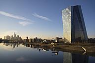 Germany, Frankfurt, view to European Central Bank and city skyline - JWAF000256