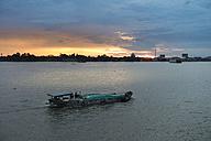 Vietnam, Mekong, freight ship at Mekong Delta - JWAF000260