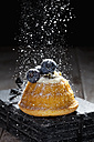 Mini Gugelhupf filled with ricotta and cream cheese garnished with blueberries - CSF024936